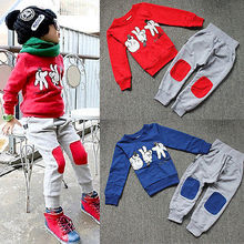 NEW Autumn Baby Kids Boys Finger Games Sport Tracksuits 2pcs Outfit Sets 2-7Y(China (Mainland))