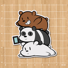 We Bare Bears Grizzly & Panda & Ice Bear Notebook/refrigerator/skateboard/trolley case/backpack/book sticker PVC sticker