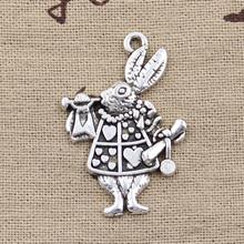 Buy 5pcs Charms musical rabbit trumpet 36*23mm Antique pendant fit,Vintage Tibetan Silver,DIY bracelet necklace for $1.92 in AliExpress store