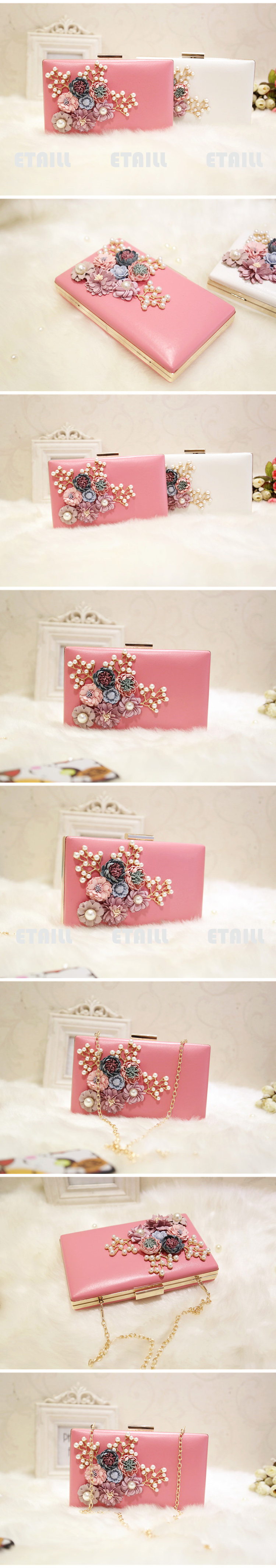 Fashion Colorful Flowers Party Ladies Evening Clutch Bags
