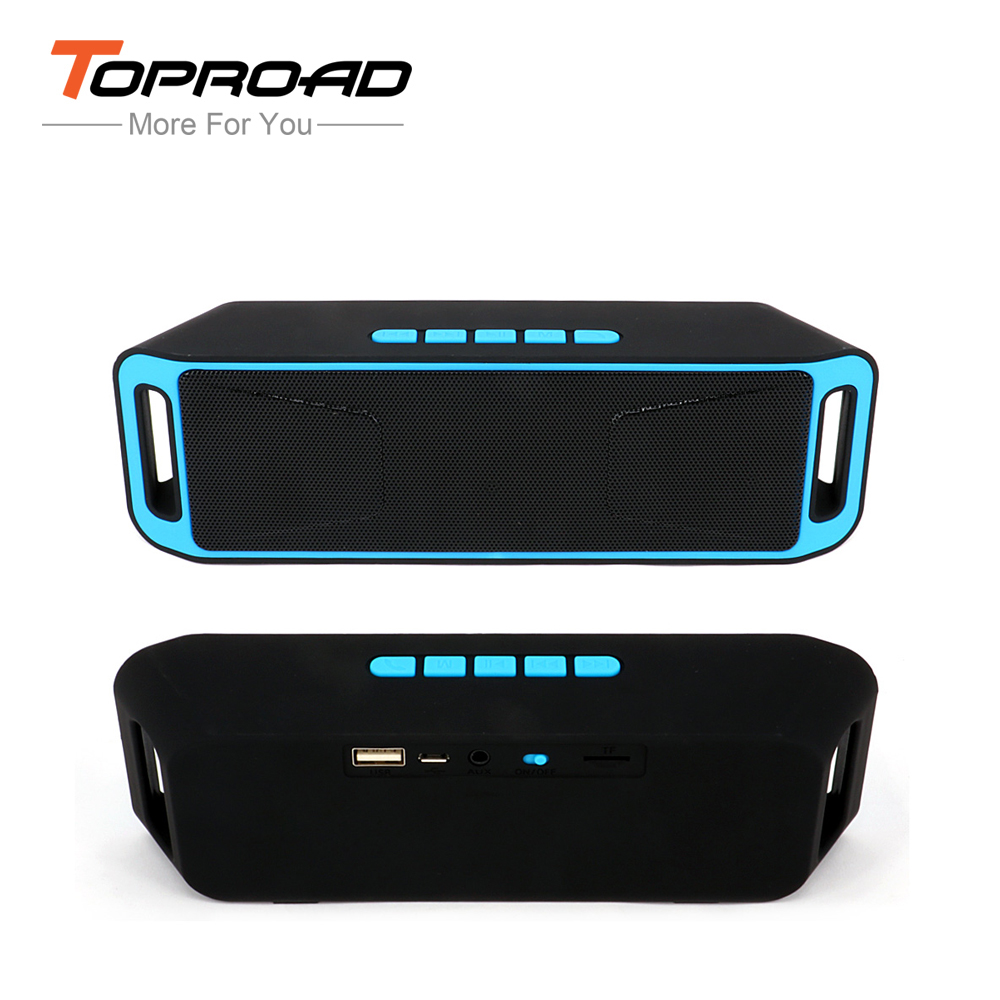 Portable Wireless Bluetooth Speaker caixa de som Stereo Subwoofer Speakers Built-in Mic TF USB FM Radio Dual Bass Sound Box(China (Mainland))