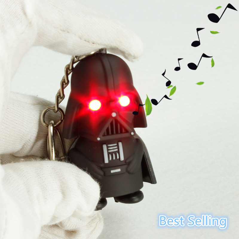 J016 New Arrival Red Light Star War LED Flashlight Black Knight Anakin Skywalker Darth Vader With Sound Doll Action Figure Toys(China (Mainland))