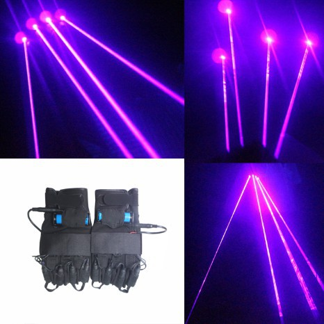 High power LanZiGuang radium gloves forward stage laser equipment performance props according to glow gloves(China (Mainland))