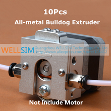 10Pcs DIY Reprap Bulldog All-metal Extruder For 1.75 3mm Compatible with E3D J-head MK8 Remotely Proximity For 3D printer parts
