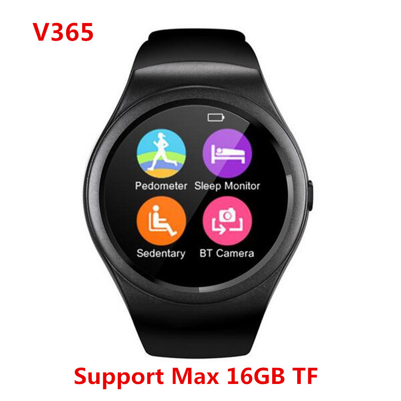 Latest Smart Watch V365 Full Circle Smartwatch Pedometer Fitness Tracker SIM TF Mobile Watch for IOS android Smart Watch android(China (Mainland))