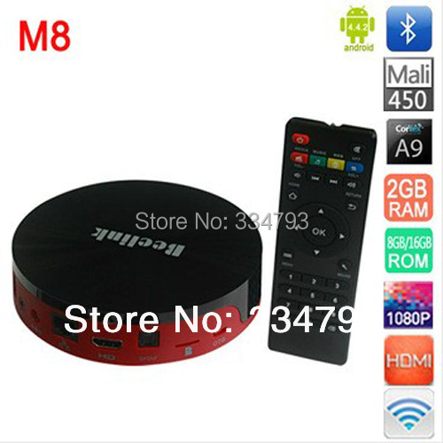 Newest Quad Core Android TV Box M8 Amlogic S802 2GB/16GB Mali450 GPU 2.4G/5G Dual Wifi Hdmi Bluetooth 4K Android 4.4 KitKat XBMC(China (Mainland))