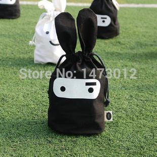 2014 Rushed Top Fashion Vacuum Bag Organizador Bolsa 2pcs/lot Ninja Rabbit Containing Cute Beam Port Pouch Bag Daily Finishing(China (Mainland))