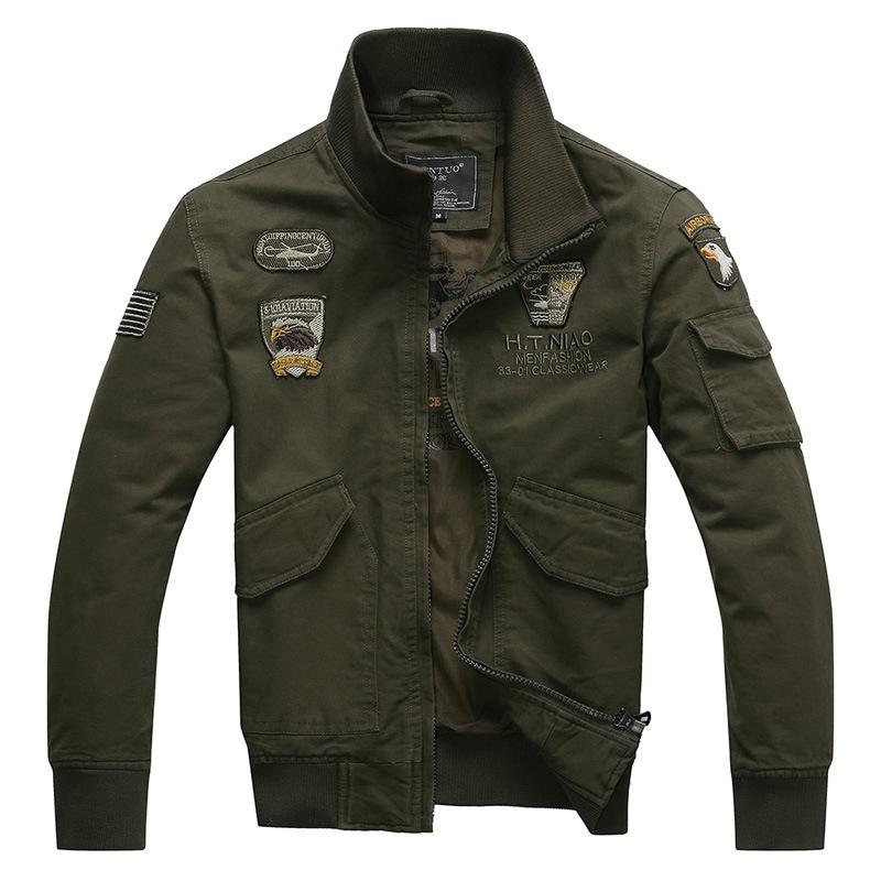 Spring autumn cargo jacket men sportswear zipper