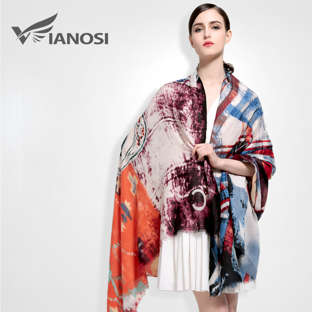 [VIANOSI] 2016 Fashion Bandana Cotton Scarf Warm Soft Scarves Woman Print Shawl Classic Design Luxury Foulard VA029(China (Mainland))