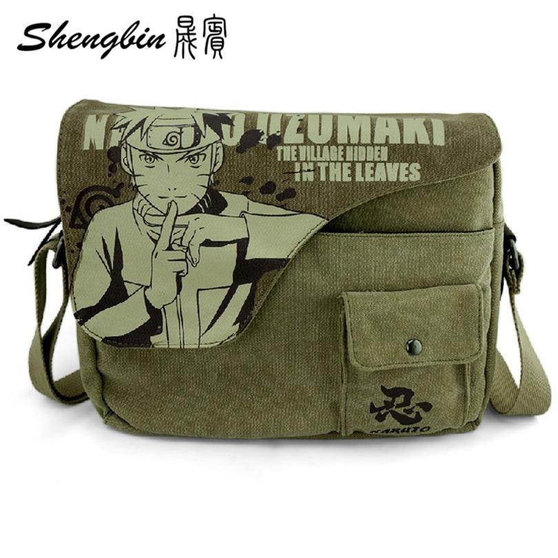 Uzumaki Naruto Crossbody Bag Anime Shoulder Bags Canvas Student Messenger Bags Canvas Uzumaki Naruto Crossbody Bag(China (Mainland))