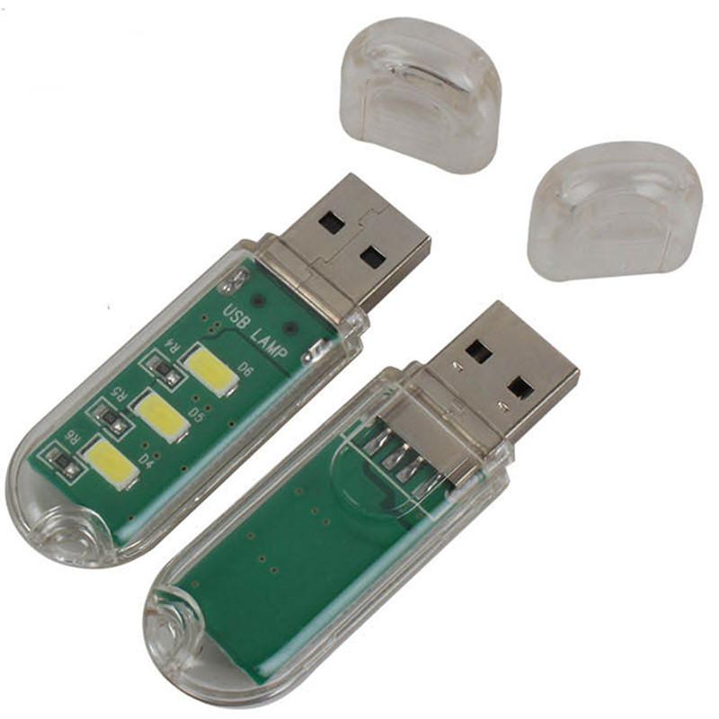 1Pcs Mini Computer USB Gadget LED beads lamp mini USB light White light for notebook laptop