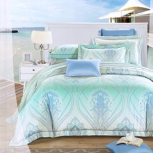 2016New Bedding Set Queen/King  100% Reactive Printing Tencel Bedding Set for summer and spring,Home Textiles Luxury bedding set(China (Mainland))