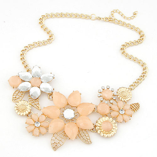 Collier Femme Colar Collar 2015 Mujer Boho Fashion Statement Necklaces Pendants for Women Flower Choker Necklace