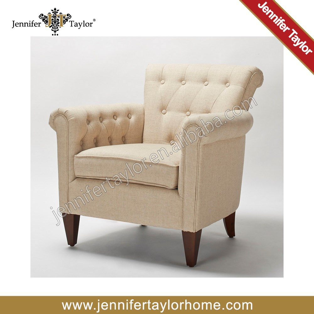 American Style Single Seater Sofa, Arm Chair, Tufted Button, Constrast Color 5308-746(China (Mainland))