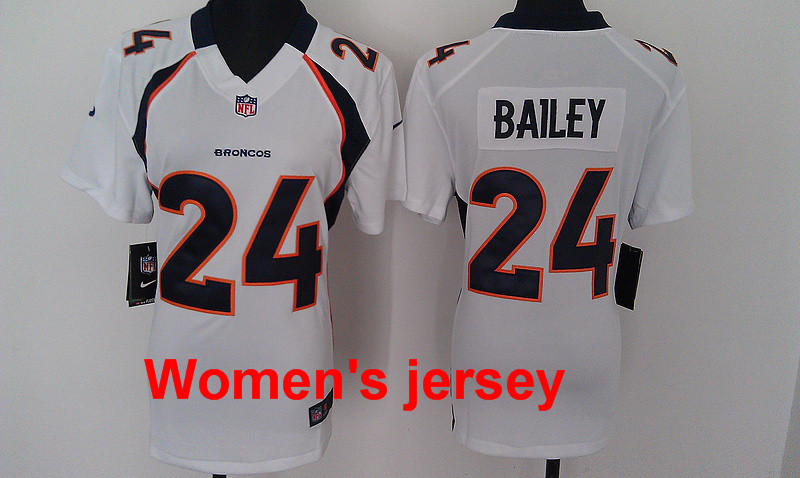 A+++ Women ladies all stitched Denver Broncos throwback(China (Mainland))