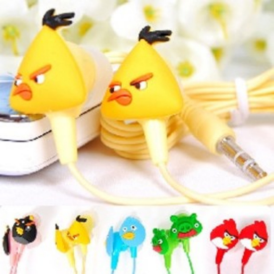 birds  Cartoon inear earphone headset earbuds earpods headphone for mp3 mp4 pc psp