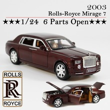 Rolls-Royce Phantom Model 1:24 scales pull back metal model, sound and light alloy model car collection toys for children(China (Mainland))