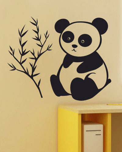 It Only Eats Bamboo Baby Panda Wall Stickers For Kids Rooms Lovely Wall Art(China (Mainland))
