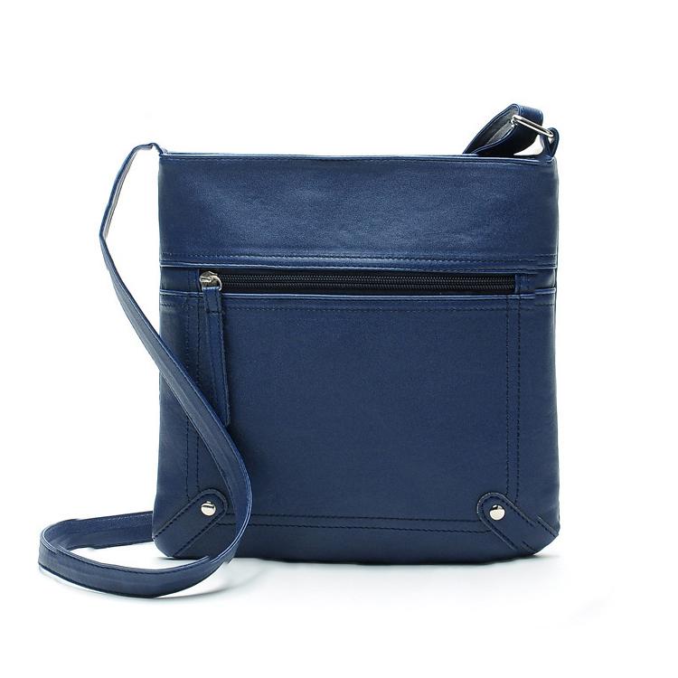 Free shipping women PU leather zipper envelope shoulder bags ladies vintage handbags crossbody sling messenger bag satchels(China (Mainland))