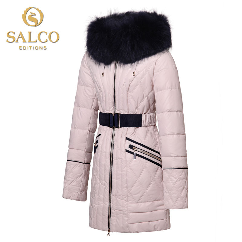 SALCO Free shipping new high-end European and American fashion lady large raccoon fur hooded down jacket and long sectionsОдежда и ак�е��уары<br><br><br>Aliexpress