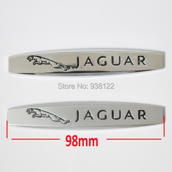 1pc Leopard Car Side Fender Skirts metal Emblem Sticker Badge Jaguar - Moon-Maid store