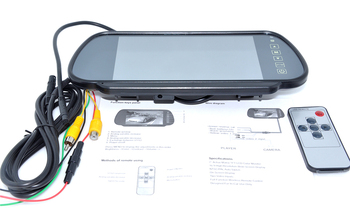 Free shipping Wholesale 7 inch Color TFT LCD Car Rearview Monitor Car Rearview Mirror Factory Selling 10