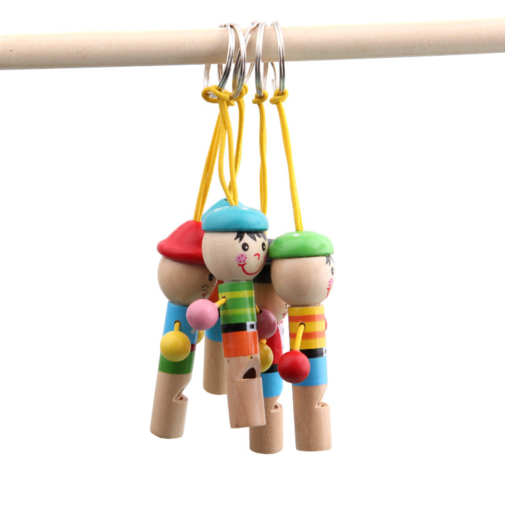 New Cartoon Cute For Baby Wooden Toy Whistle Pirates Developmental Toy Musical Bag decoration Toys Gift<br><br>Aliexpress