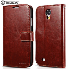 For Galaxy S4 Wallet Cover Flip PU Leather Case For Samsung Galaxy S4 i9500 SIV Luxury Mobile Phone Bag Fashion Tomkas Coque(China (Mainland))