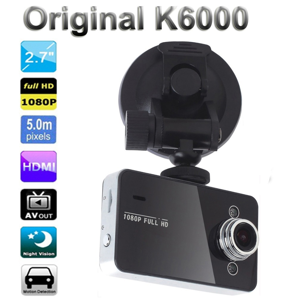 full hd 1920x1080 g-sensor cycle recording novatek k6000 veicular carcam video registrator car dvr dvrs camara recorder(China (Mainland))