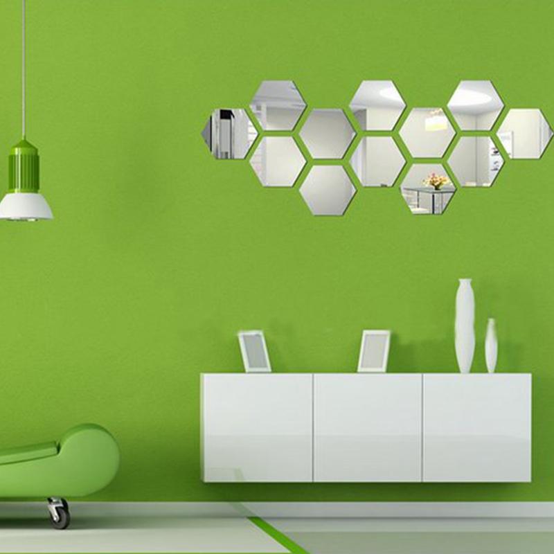 Hoge kwaliteit groothandel hexagon mirror van chinese hexagon mirror groothandelaars - Driedimensionale spiegel ...