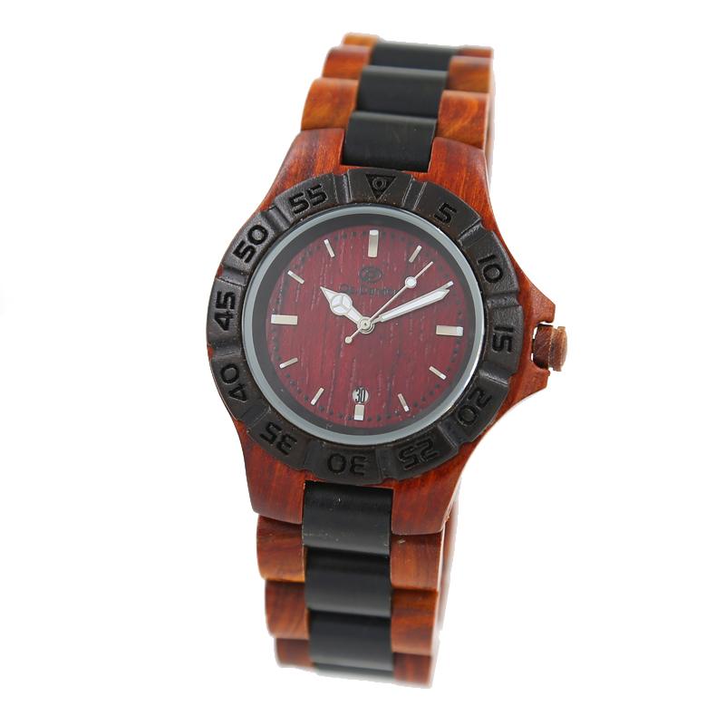 Best Gift for Men  Wood Quartz Watches Fashion Casual Wristwatch Men Japan Movt Leisure Wooden Watch Complete Calendar<br><br>Aliexpress