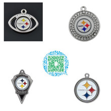 Buy Skyrim 4 Styles Pittsburgh Steelers football charms enamel crystals paster workmanship high accessory jewelry making for $9.12 in AliExpress store