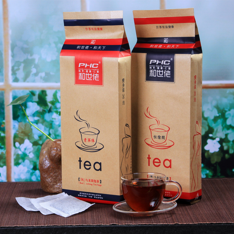 2015 Reduce weight tea Red oolong tea and Black oolong tea bags 288g slimming products to lose weight puer tea from CHINA(China (Mainland))