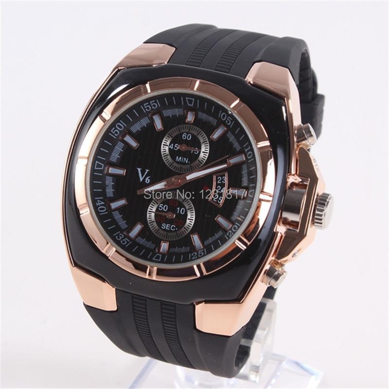 XINEW Mens Cheap Big Brand V6 Watches Imported Sports Montres de Marque de Luxe Reloj Hombre Men Designer Wristwatches Rose Gold(China (Mainland))