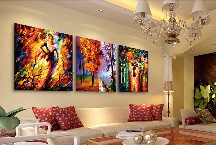 Free shipping Giclee printing wall art oil painting for home decoration on canvas wedding /houswarming gift painting picture(China (Mainland))