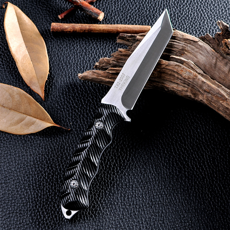 Buy New Fixed Blade Knife Outdoor Survival Tactical Hunting Knife Cold Steel Facas Taticas Knife D2 Navajas Zakmes Cuchillos cheap
