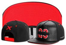 New brand C&S 23 BL BANNED CAP Black leather sport hip hop sun cap baseball hat snapback cap for men women Box packaging (China (Mainland))
