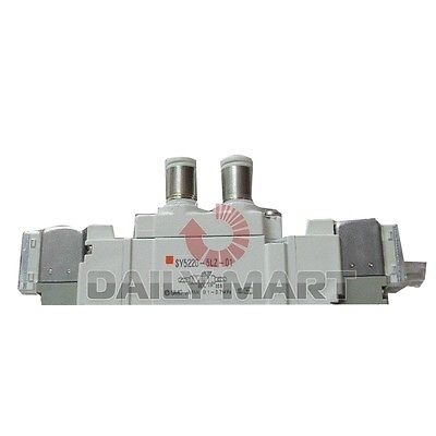 Фотография DHL/EMS 2 LOTS Brand New SMC SY5220-5LZ-01 5 Port Solenoid Rubber Seal Valve PLC (AB8)
