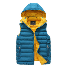 Hot sale detachable cap hooded slim fit men winter vest sleeveless winter jacket free shipping AD446S(China (Mainland))