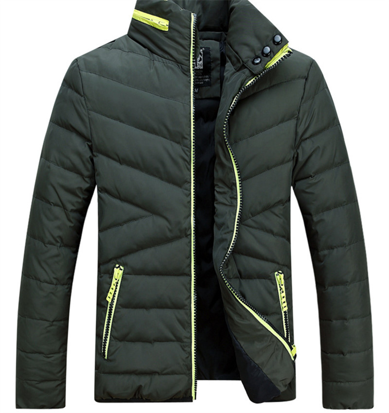 2015 Men Duck Down Jacket Ultra Light Outdoor Student Stand Collor Winter Coat Men s Fit