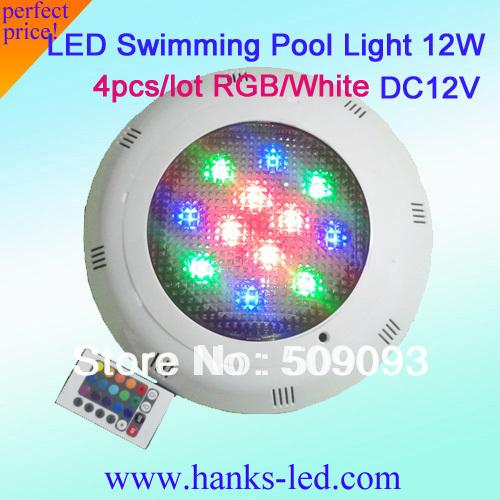 4pcs lot high power 12w white rgb 12w 12v led swimming - Swimming pool lighting requirements ...