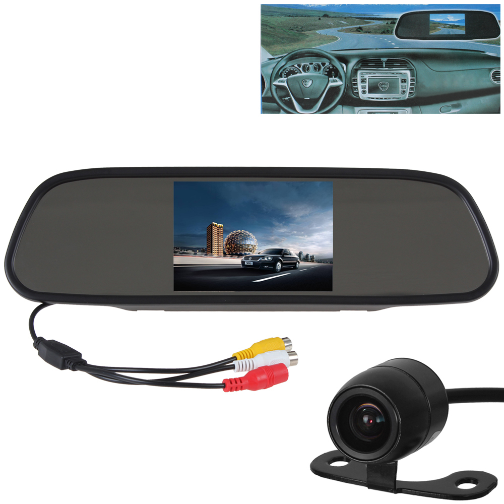 480 x 272 5 Inch Color TFT LCD Screen Wide View Angle Car Rear View Mirror Monitor with Car Rearview Camera(China (Mainland))