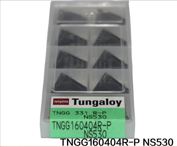 10pcs/box Tungaloy inserts round turning tool into hard alloy TNGG160404R-P NS530 free shipping!(China (Mainland))