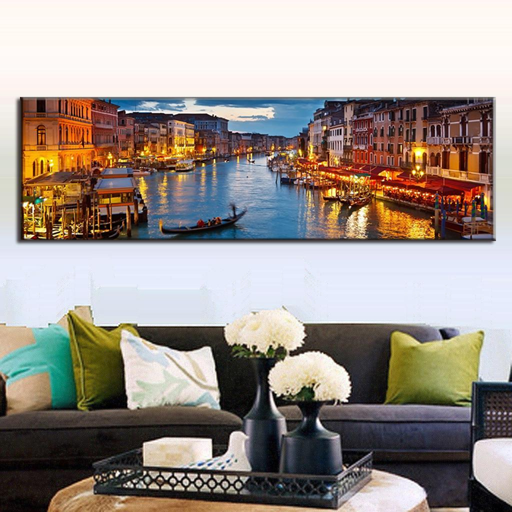 Super large painting oil single landscape canvas painting for Super cheap home decor