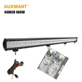 Auxmart 5D 44inch 480w straight LED Work light bar combo beam led bar for Offroad camper