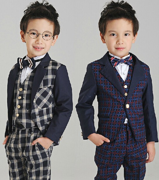 2015 fashion baby boys kids blazers boy suit for weddings prom formal black white gray dress wedding boy suits(China (Mainland))