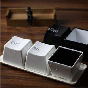 Concise creative keyboard cup lovers coffee cup mugs fashion cup ctrl del alt free shipping