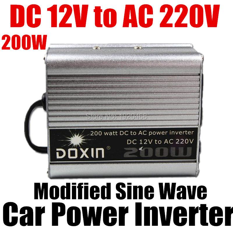 200W Watt Portable Car Automotive Power 12V 220V Inverter Charger Converter power transformer DC 12 to AC 220 Modified Sine Wave(China (Mainland))