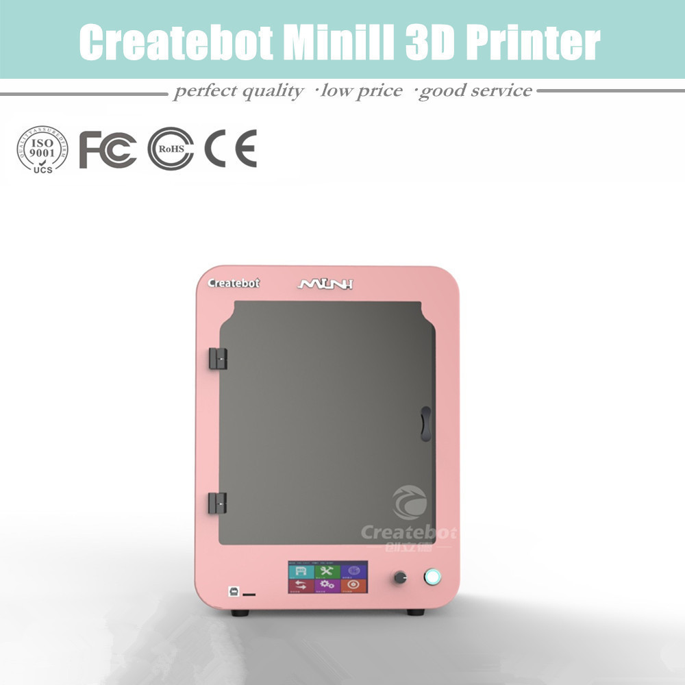 Popular Configuration High Resolution Dual Extruders Createbot Mini 3D Printer with both Touchscreen and Heatbed