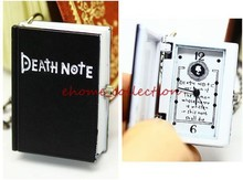 The Death Note Book shape Arabic Numerals Time Indicator Pocket Watches Retro Fashion Clothes Decoration Necklace Watch(China (Mainland))